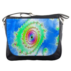 Decorative Fractal Spiral Messenger Bags