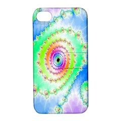 Decorative Fractal Spiral Apple iPhone 4/4S Hardshell Case with Stand
