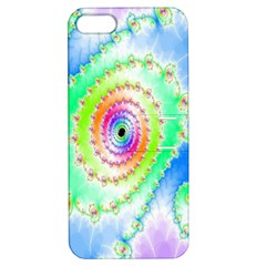 Decorative Fractal Spiral Apple iPhone 5 Hardshell Case with Stand