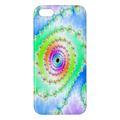 Decorative Fractal Spiral Apple iPhone 5 Premium Hardshell Case