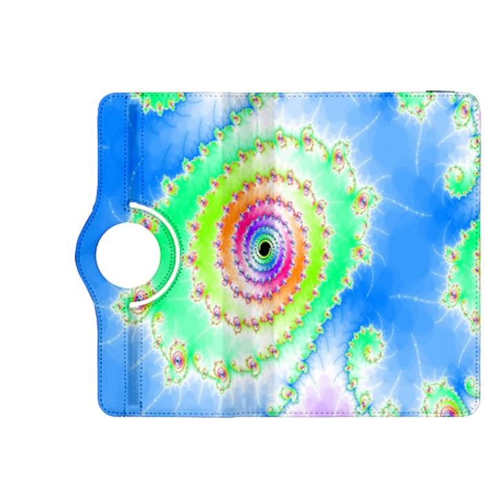 Decorative Fractal Spiral Kindle Fire HDX 8.9  Flip 360 Case