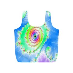 Decorative Fractal Spiral Full Print Recycle Bags (S)