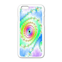 Decorative Fractal Spiral Apple iPhone 6/6S White Enamel Case