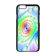 Decorative Fractal Spiral Apple iPhone 6/6S Black Enamel Case