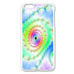 Decorative Fractal Spiral Apple Iphone 6 Plus/6s Plus Enamel White Case