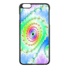 Decorative Fractal Spiral Apple iPhone 6 Plus/6S Plus Black Enamel Case