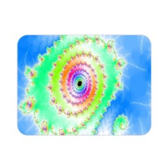 Decorative Fractal Spiral Double Sided Flano Blanket (Mini)