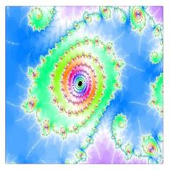 Decorative Fractal Spiral Large Satin Scarf (Square)