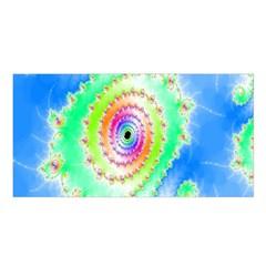 Decorative Fractal Spiral Satin Shawl
