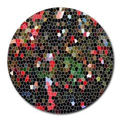 Colorful Abstract Background Round Mousepads