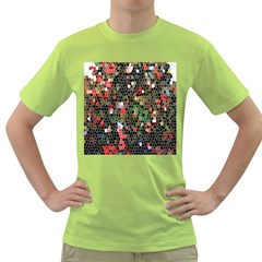 Colorful Abstract Background Green T Shirt
