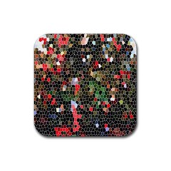 Colorful Abstract Background Rubber Coaster (Square)