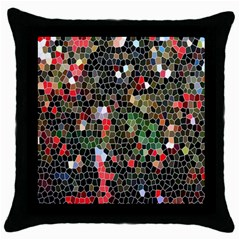 Colorful Abstract Background Throw Pillow Case (Black)
