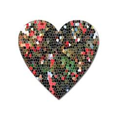 Colorful Abstract Background Heart Magnet