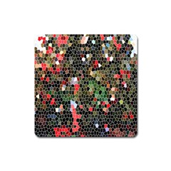 Colorful Abstract Background Square Magnet