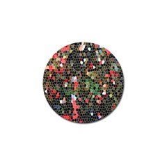 Colorful Abstract Background Golf Ball Marker (4 Pack)