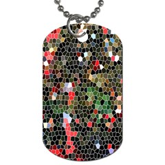 Colorful Abstract Background Dog Tag (Two Sides)