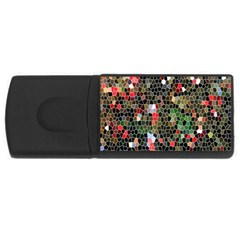 Colorful Abstract Background USB Flash Drive Rectangular (2 GB)