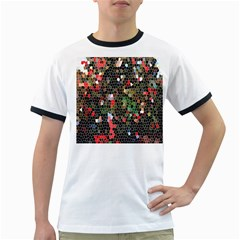 Colorful Abstract Background Ringer T-Shirts