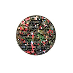 Colorful Abstract Background Hat Clip Ball Marker (4 Pack)