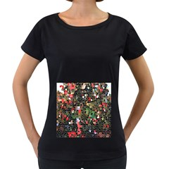 Colorful Abstract Background Women s Loose Fit T Shirt (black)