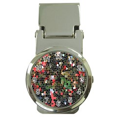 Colorful Abstract Background Money Clip Watches
