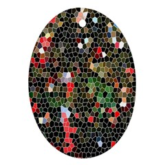Colorful Abstract Background Oval Ornament (Two Sides)