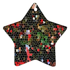 Colorful Abstract Background Star Ornament (two Sides)