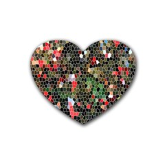 Colorful Abstract Background Heart Coaster (4 pack)