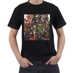 Colorful Abstract Background Men s T Shirt (black)