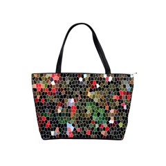 Colorful Abstract Background Shoulder Handbags