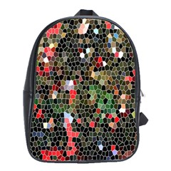 Colorful Abstract Background School Bags(Large)
