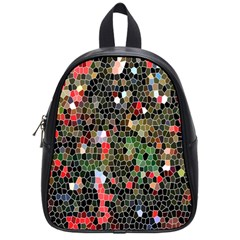 Colorful Abstract Background School Bags (Small)