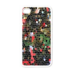 Colorful Abstract Background Apple Iphone 4 Case (white)