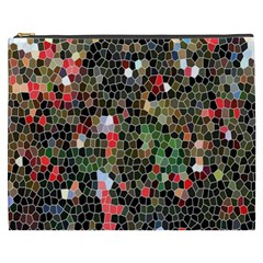 Colorful Abstract Background Cosmetic Bag (XXXL)