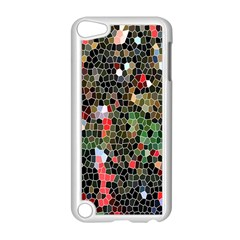 Colorful Abstract Background Apple iPod Touch 5 Case (White)