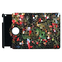 Colorful Abstract Background Apple Ipad 2 Flip 360 Case