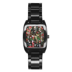 Colorful Abstract Background Stainless Steel Barrel Watch