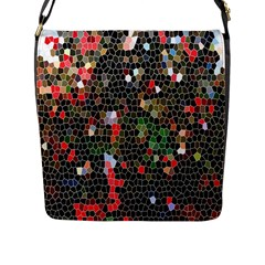 Colorful Abstract Background Flap Messenger Bag (L)
