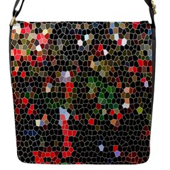 Colorful Abstract Background Flap Messenger Bag (s)
