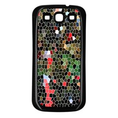Colorful Abstract Background Samsung Galaxy S3 Back Case (Black)