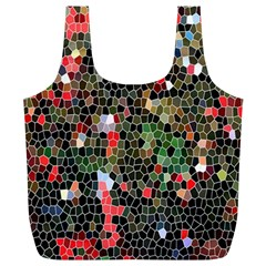 Colorful Abstract Background Full Print Recycle Bags (L)