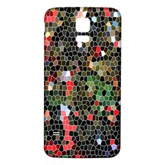 Colorful Abstract Background Samsung Galaxy S5 Back Case (White)