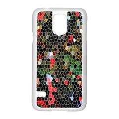 Colorful Abstract Background Samsung Galaxy S5 Case (White)