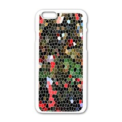 Colorful Abstract Background Apple iPhone 6/6S White Enamel Case