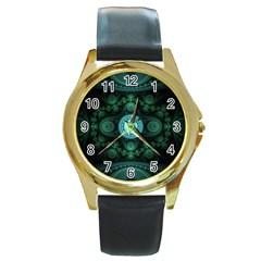 Grand Julian Fractal Round Gold Metal Watch