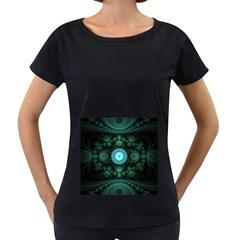 Grand Julian Fractal Women s Loose-Fit T-Shirt (Black)