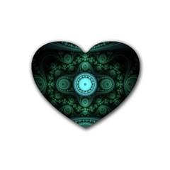 Grand Julian Fractal Rubber Coaster (heart)