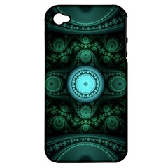 Grand Julian Fractal Apple iPhone 4/4S Hardshell Case (PC+Silicone)