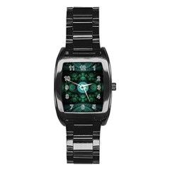 Grand Julian Fractal Stainless Steel Barrel Watch
